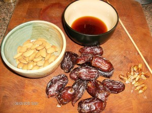 dates honey almonds