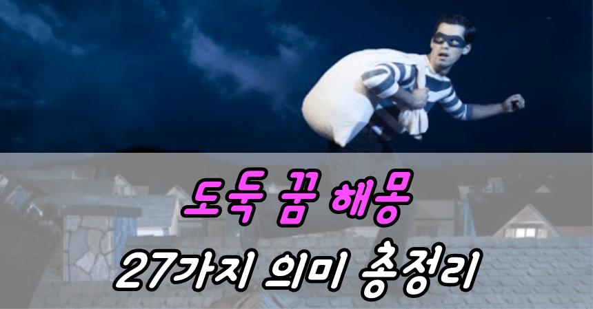 도둑 꿈 해몽 27가지 의미 총정리