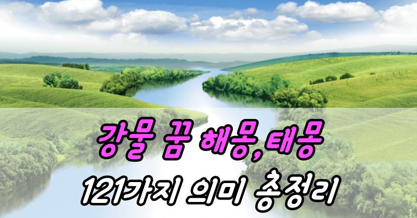 강물 꿈 해몽,태몽 121가지 의미 총정리