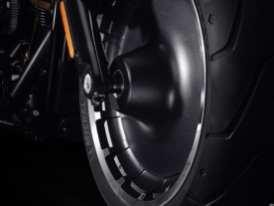 Die Lakester-Leichtmetallvollscheibenräder tragen mit gefrästen Kanten versehenes Satin Black