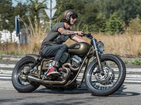 »Ich bin in der Shovelhead-Ära aufgewachsen, denn vor fünfundzwanzig Jahren waren hier nicht so viele Evo-Harleys unterwegs, die inzwischen ja als Oldtimer bezeichnet werden«