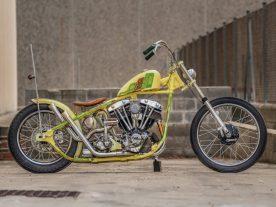 Alles an diesem Bike ist stimmig. Sitz und Sitzhalterung stammen von Greasy Bobber