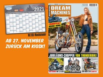 DREAM-MACHINES 01-2021 – mit XXL-Wandkalender