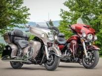 Tolle Fahrersitze bei beiden Modellen → die Harley zeigt sich bei längeren Strecken etwas behaglicher