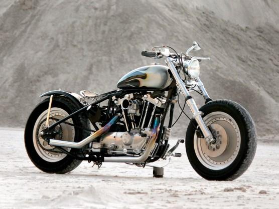 Chris aus Harrison in Arkansas gestaltet ihre Motorräder selbst. Die Räder gab´s mal als Weihnachtsgeschenk