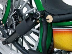 Luftfederung am Heck: Dadurch lässt sich das Bike auf die Rahmenunterzüge absenken