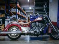 Versuchskaninchen: Die zum Chicano-Bike umgebaute Chief Classic des Stuttgarter Indian-Vertragshändlers Bike Schmiede Süd