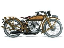 Modell BA von 1926. Es war kauf- männischer Harakiri von Harley, parallel zwei völlig verschiedene Motorenkonzepte zu bauen