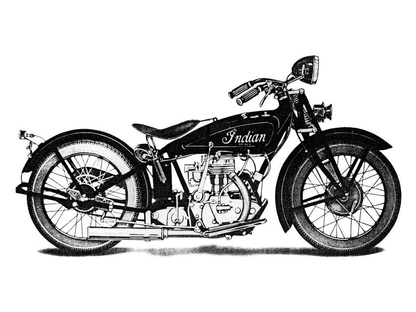 """Einfach – robust – preiswert. So kann man die Qualitäten der Indian Prince umschreiben. Mit der 350-ccm-""""Prince"""" eroberte sich Indian im Jahr 1925 den brachliegenden US-Leichtgewicht-Motorradmarkt. Der konstruktiv einfache SV-Motor mit leicht abnehmbarem Zylinderkopf wurde in altbewährter Indian-Technik (Scout) gebaut, dazu kamen ein """"Keystone""""-Rahmen, Girdergabel und eine elektrische Anlage. Der Preis für das Modell L betrug 185 Dollar. Sie war damit wiederum deutlich günstiger als die vergleichbaren Modelle von Harley-Davidson und ein großer Erfolg am Markt"""