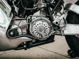 Um das Getriebe einer historischen Indian mit dem Motor koppeln zu können, baute Max Hazan einen komplett neuen Primärtrieb samt Kupplung