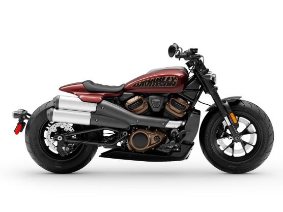 Die Sportster S gibt's in drei Farben: Weiß, Burgund-Rot und Schwarz