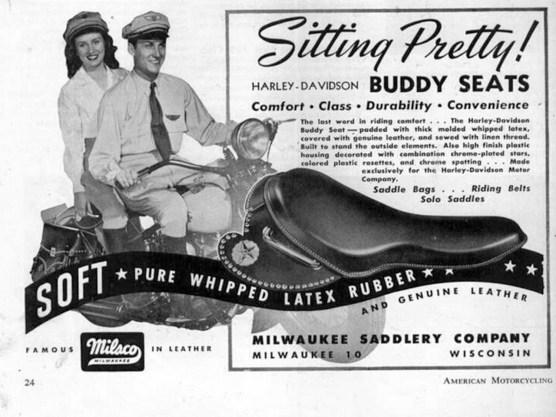 Durch den Buddy Seat verbesserte sich nicht nur der Fahrkomfort, sondern da er als Doppelsitz konzipiert war, bescherte er auch einen ungemein engen Körperkontakt zwischen den Passagieren, der das Motorradfahren mit Sozia völlig veränderte
