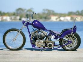 Um den originalen Panhead-Motor von 1950 strickte Bill Dodge einen schlanken Starrrahmen im Wishbone-Look