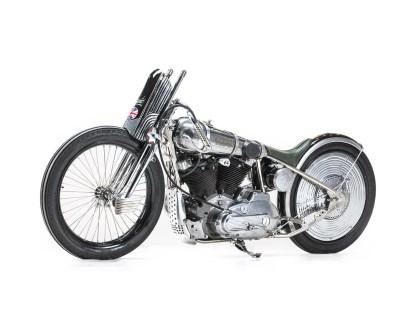 Gatsby, so der Name des Bikes, basiert auf einem 1980er H-D Sportster-Rahmen inklusive zugehörigem Ironhead-Motor