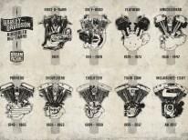 Dieses XXL-Poster mit Harleys luftgekühlten Big Twins gibt's exklusiv für alle Abonnenten