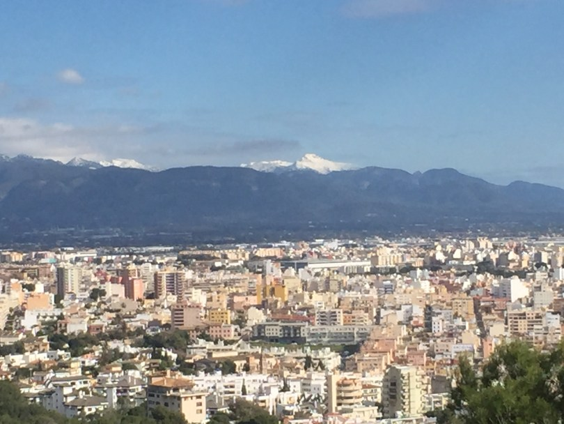 Mallorca Schnee Berge Tramuntana Gebirge