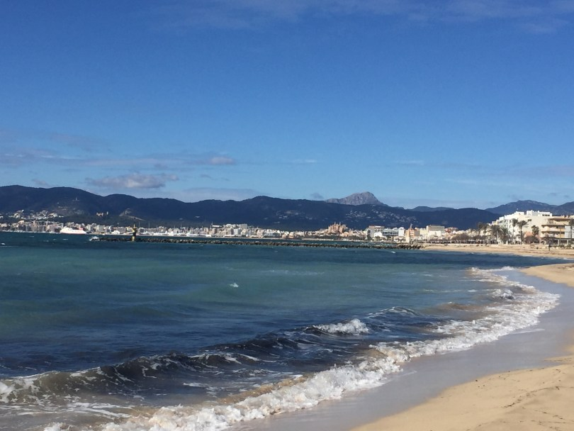 Palma Bucht Strand Mallorca