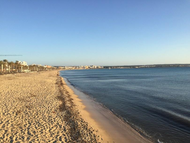 Die Leere Playa de Palma auf Mallorca