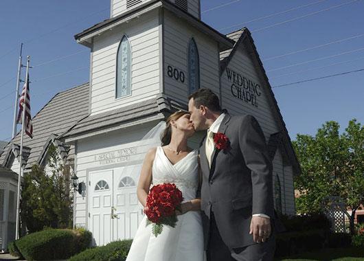 Las Vegas Sign Wedding Kleine Kirche Des Westens