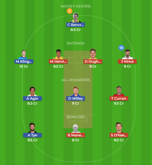 PS vs SDS Dream11 Team for the 30thmatch