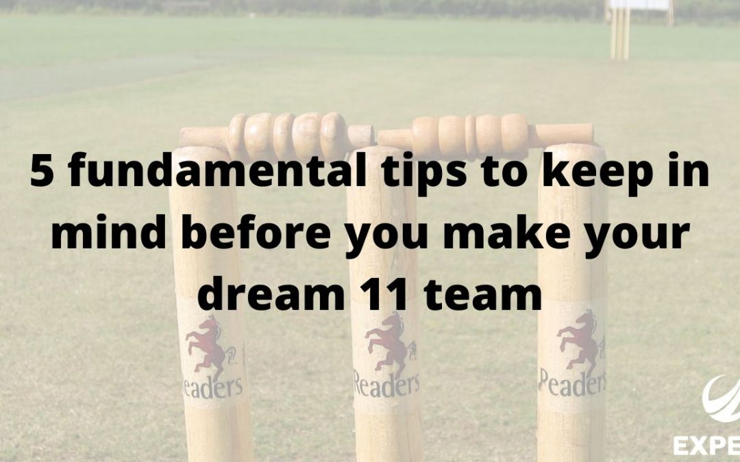 5 fundamental tips to keep in mind before you make your dream 11 team