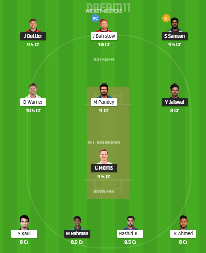 RR vs SRH Dream11