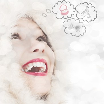 image of woman having happy thoughts
