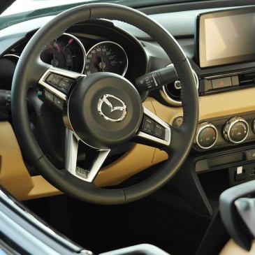 image of dashboard of a new car