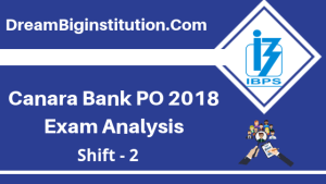 Canara Bank PO Exam Analysis 2018