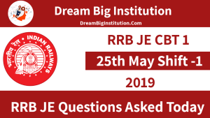Questions asked in RRB JE Exam: 25th May