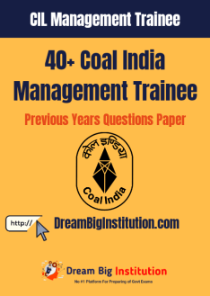 Coal India Management Trainee Previous Papers