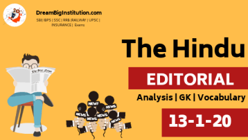 The Hindu Editorial Vocabulary For All Competitive Exam 13 January 2020