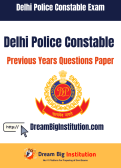 Delhi Police Constable Previous Year Question Papers PDF