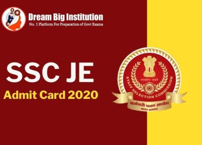 SSC JE Admit Card 2020