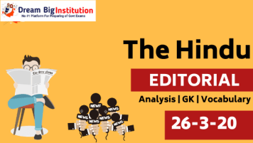 The Hindu Editorial Vocabulary 26 March 2020