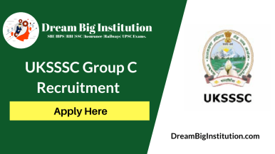 UKSSSC Group C Recruitment 2020 Out: Apply Online