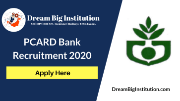 PCARD Bank Recruitment 2020
