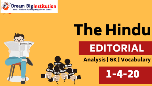 The Hindu Editorial Vocabulary 1 April 2020 For All Competitive Exam