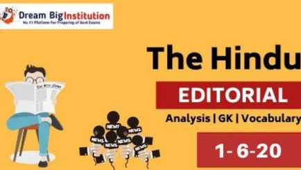 The Hindu Editorial Vocabulary 1June 2020 For Bank SSC Insurance & Other Exams