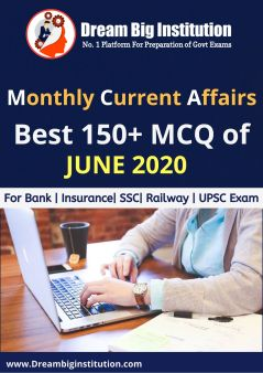 Monthly Current Affairs Questions June 2020