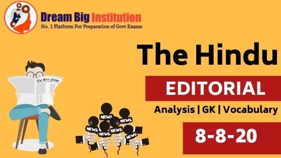 The Hindu Editorial VOCAB 8th August 2020