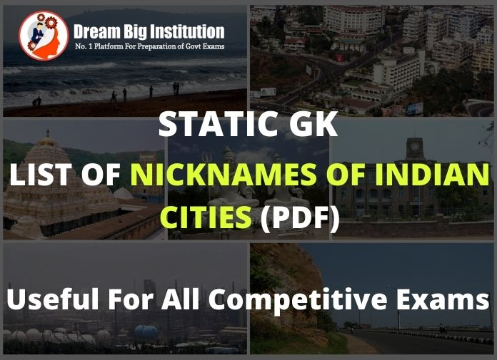 List of Nicknames of Indian Cities
