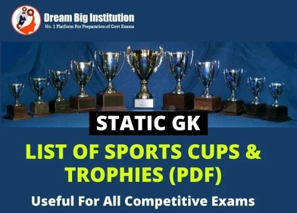 Sports Cups & Trophies list