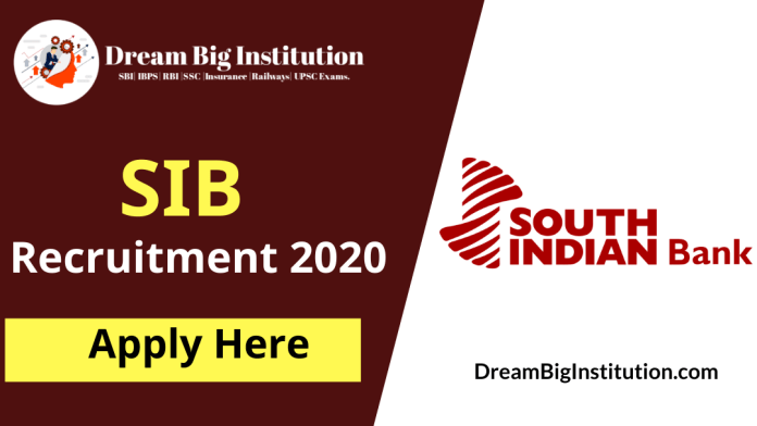 South Indian Bank Recruitment 2020 Out - Apply Online Here