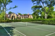 Luxury tennis courts on this Lake Forest estate | Listed by Ann Lyon and Julie Deutsch