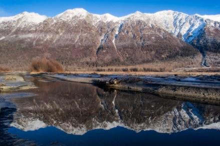 Takshanuk Mountains Reflected In The Chilkat River