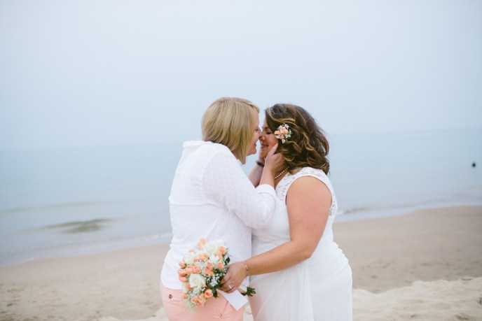micro wedding package, lesbian beach wedding, Saugatuck beach Wedding Planner
