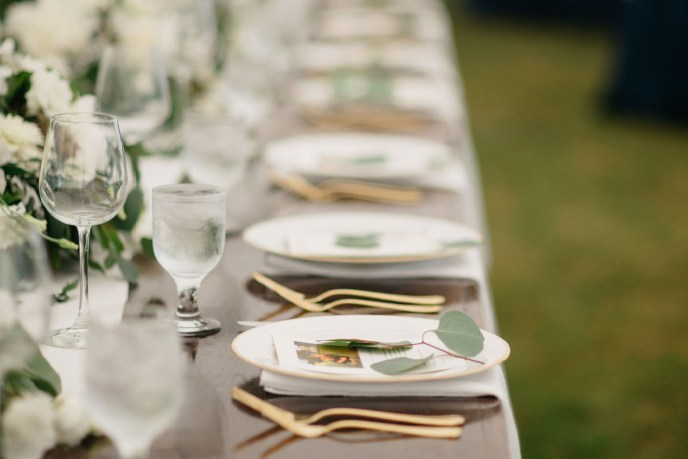 tablescape by our a Saugatuck wedding planners table design