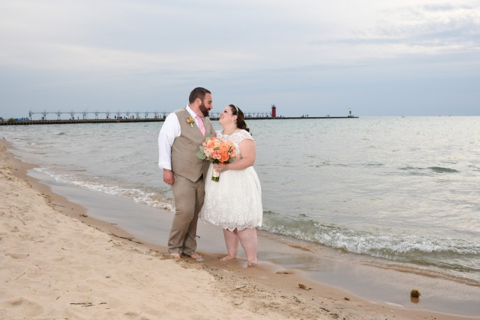 beach wedding in South Haven mi