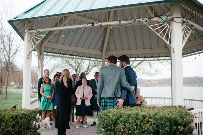 micro wedding package, where to elope in michigan, wades bayou simple wedding, lgbt wedding, men in kilts